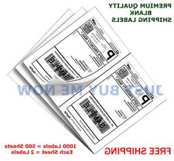 1000 Labels Half Sheet Self Adhesive Shipping Labels for Las