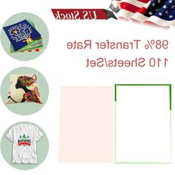110Pcs A4 Iron On Heat Transfer Sublimation Paper for Inkjet