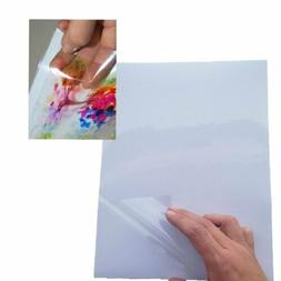 10x A4 Transparent Clear Glossy Self Adhesive Sticker Paper