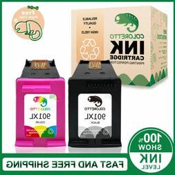 2pk Ink Cartridges for HP 901XL Black & 901 Color J4580 J455
