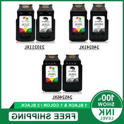 2pk Printer Ink Cartridges Black & Color For Canon 210 XL 21