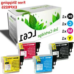 4 Pack Inkjet LC61 LC-61 Printer Ink Cartridge for  MFC-250C