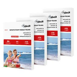 400 Sheets Koala 4X6 Premium Glossy Inkjet Printer Photo Pap