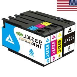4Pk 932XL 933XL Ink Cartridges Combo Set for HP OfficeJet 66