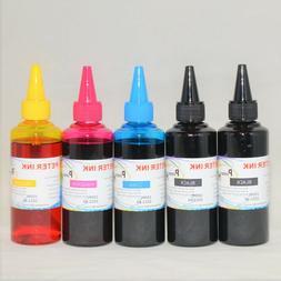 5X100ML  dye refill Ink bottles for 4 colors Epson Printer C
