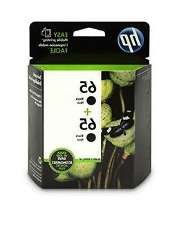 HP 65 Black Original Ink Cartridge , 2 Cartridges  for HP De