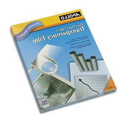 Plain Paper Copier Transparency Film, Letter, Clear, 100/Box