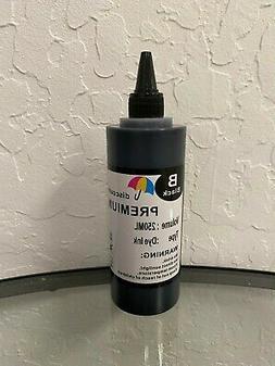 Black Bulk refill ink bottle for HP inkjet printer 250ml