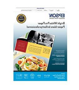 "Epson Bright White Pro Paper - S041586-4, 8.5"" x 11"""