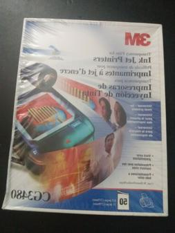 3M CG3480 Transparency Film For InkJet Printers 50 Sheets 8.