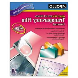 Apollo CG7033S Quick-Dry Color Inkjet Transparency Film, Let