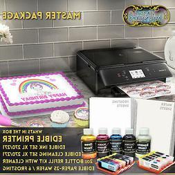 Edible Canon LCD Printer Bundle Combo Sheets Ink Cartridge R