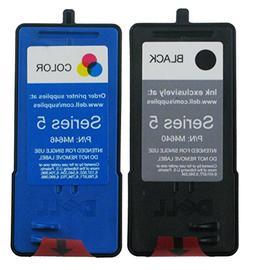Genuine Dell Series 5 M4640 M4646 Ink cartridge 2 Pack in Bu
