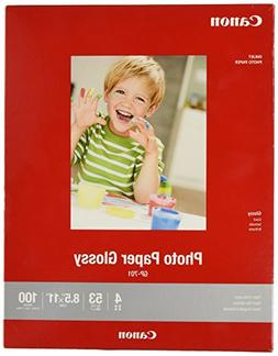 """Glossy Photo Paper 8.5"""" x 11"""" 100 Sheets 1433C004"""