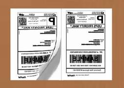 Half Sheet Self Adhesive Shipping Labels for Laser & Inkjet
