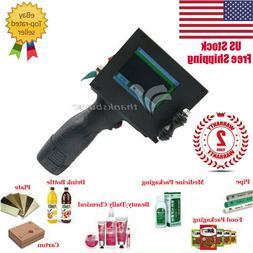 Handheld Inkjet Printer 600DPI Ink Date Words QR Code Barcod