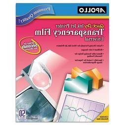 Inkjet Printer Transparency Film, Clear, 50/Box
