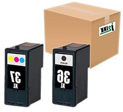 INKTONER 2x For Lexmark 36 Black 37 Color Ink Cartridge For