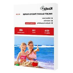 Koala 100 Sheets 4x6 Premium Glossy 48lb Inkjet Printer Phot