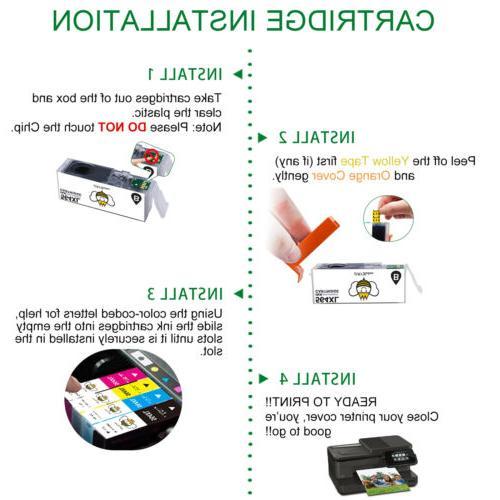 10 Cartridge for Deskjet 3520 3521 4622 Printer