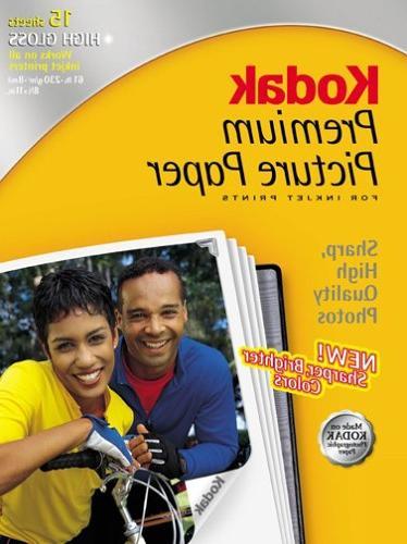 Kodak 8245276 Premium Picture Paper 8.5inx11in, 15 Sheets