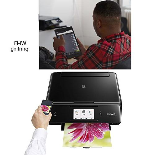 Canon All-in-One Compact with Print, Scan, Copy + Set of Ink Tanks Printer Cable Photo Sample 2 Gentle Cleaning