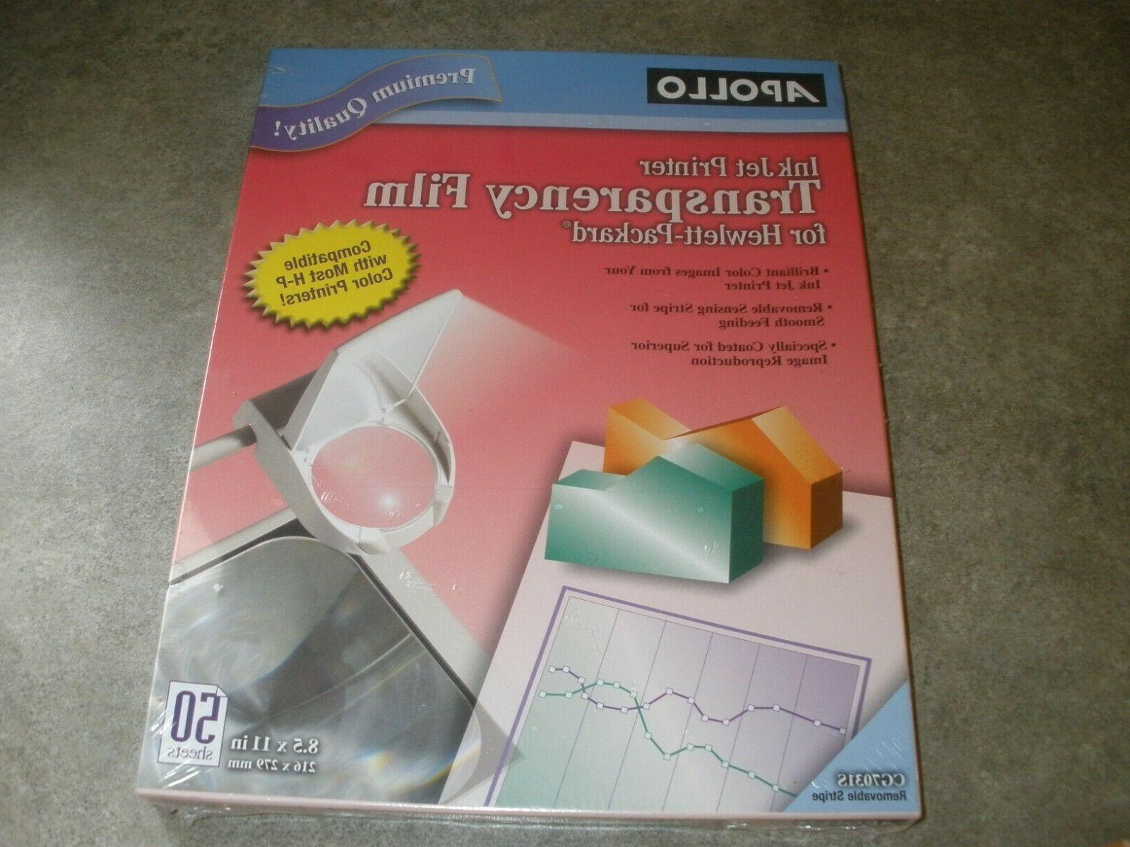 APOLLO Transparency Film For Ink Jet Printers CG7031S 50 she