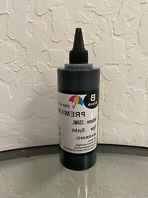 black bulk refill ink bottle for hp