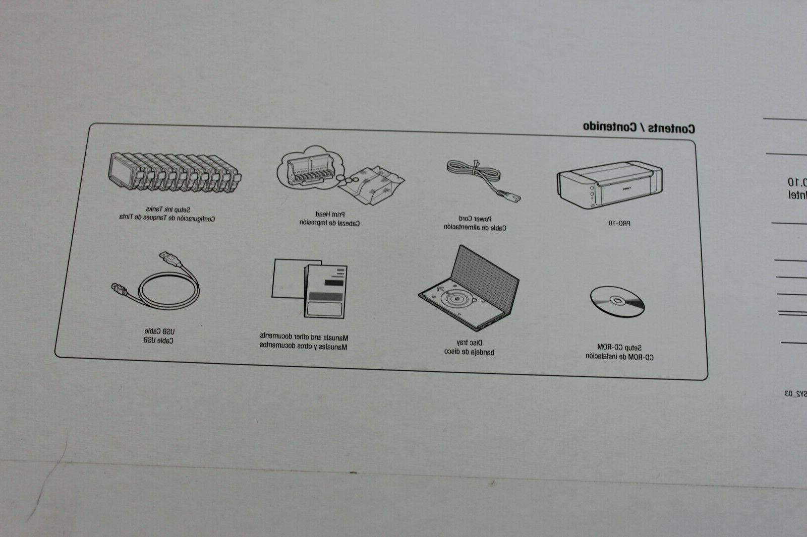Brand New PRO-10 Photo Inkjet Printer Sealed