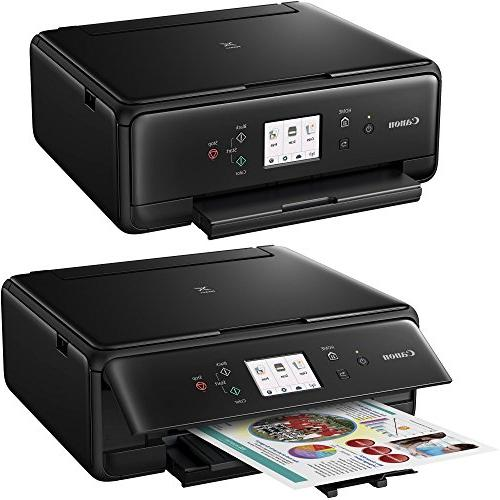 Canon PIXMA TS6020 Wireless All-in-One Compact with Print, Scan, + Tanks Cable Sample + 2 Gentle Cleaning