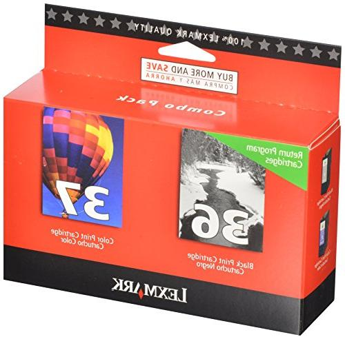 Lexmark Compatible No. 36/37 Inkjet Combo Pack