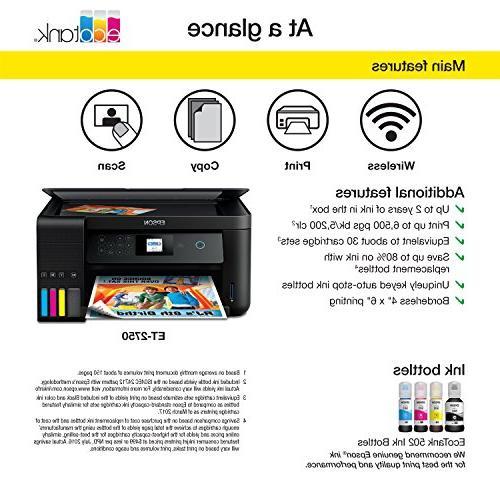 Epson Expression ET-2750 Wireless Color Supertank Printer Copier