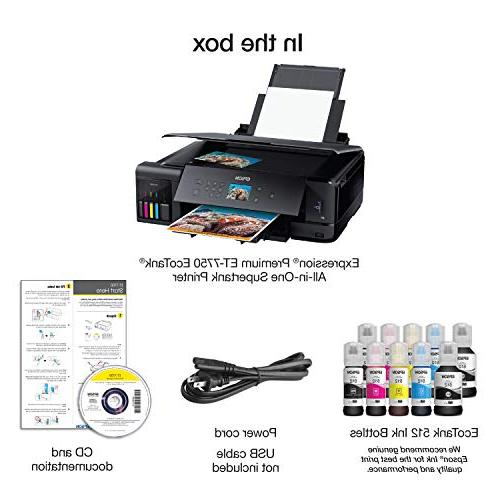 Epson EcoTank Wireless All-in-One Supertank with Scanner, Copier and
