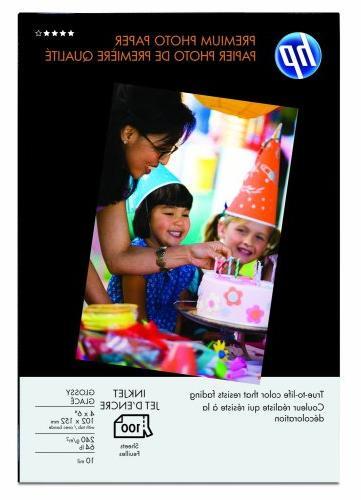 HP Premium 4 x 6 Glossy Photo Paper 100 Sheets
