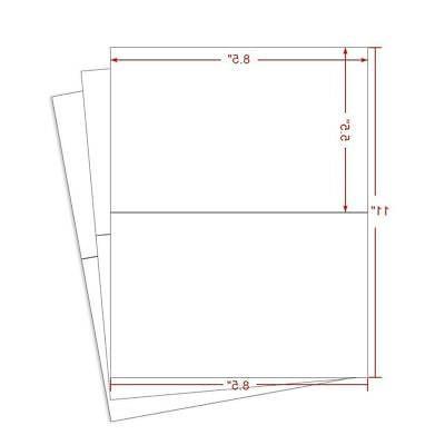 Laser/Inkjet Labels 1000 Half Labels x Inches