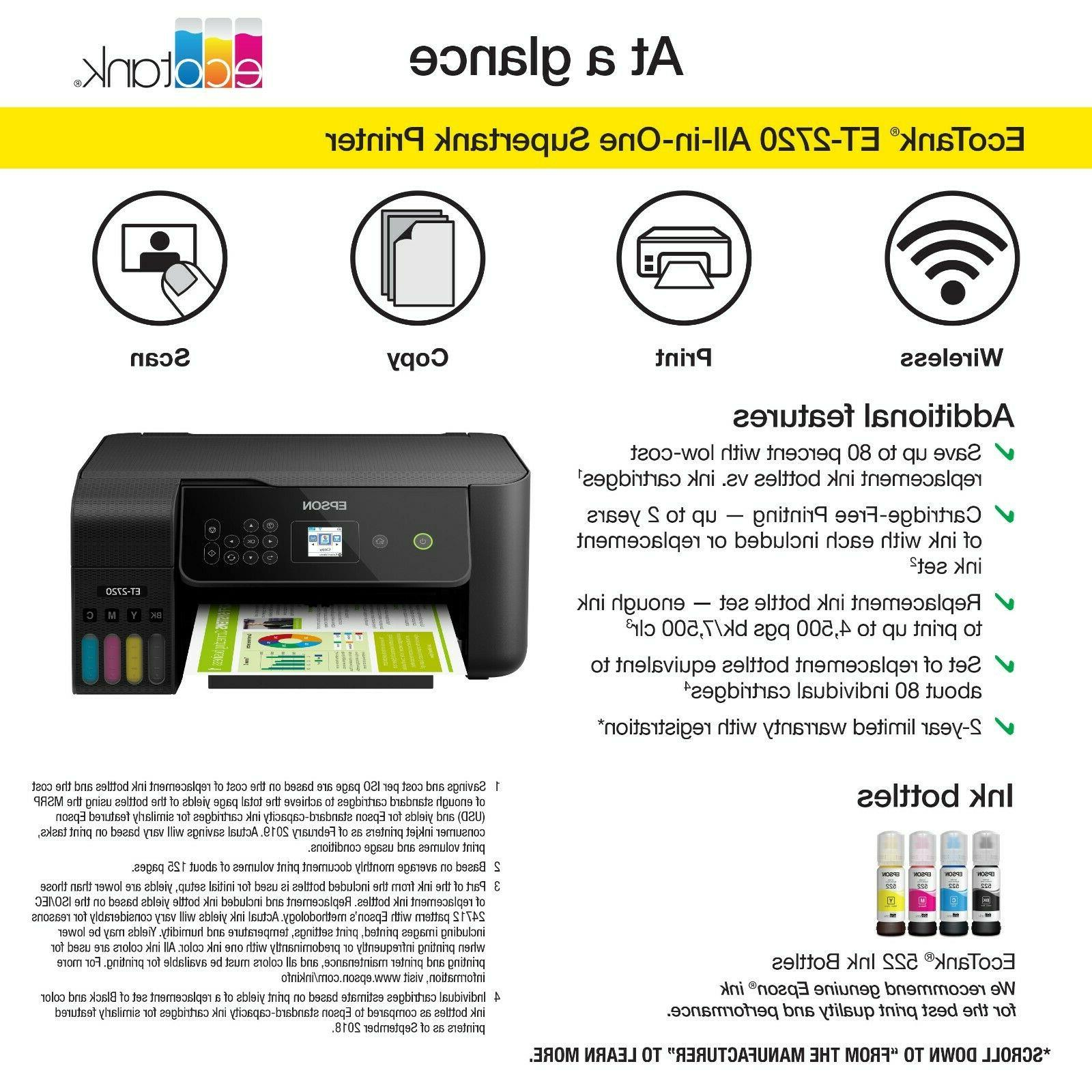 ❗NEW❗ ECOTANK Wireless All-In-One Printer