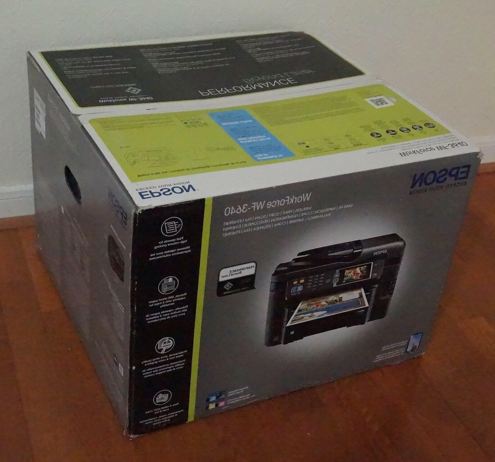 New in Epson WorkForce Wireless All-in-one Inkjet Printer with