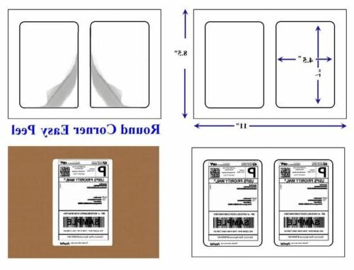 """Quality Star Shipping Labels for Laser/Inkjet x 4.5"""", Labels"""