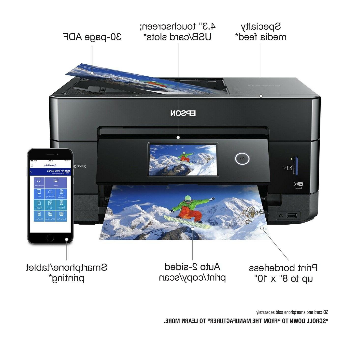 Epson Premium Wireless Photo Printer Black Scanner