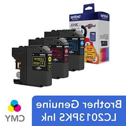 Brother - Lc201 3-pack Ink Cartridges - Cyan/magenta/yellow