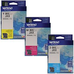 Brother LC20E Super High Yield Ink Cartridge Set Colors Only