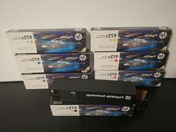 Lot of 7 Genuine HP 972X High Yield Ink Cartridges Printer E