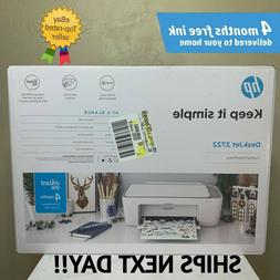 NEW HP DeskJet 2722 All-in-One Wireless Color Inkjet Printer