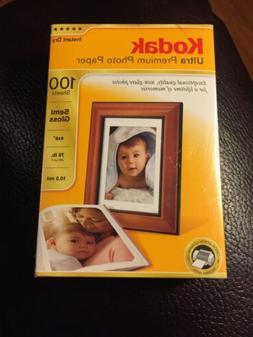 New! Kodak Ultra Premium Photo Paper, 4 x 6 Inches, Semi Glo
