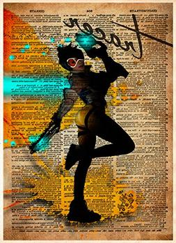 Overwatch Tracer video game art print