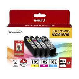 Canon PGI-280 XL / CLI-281 4 Color Pack for Pixma Inkjet Pri