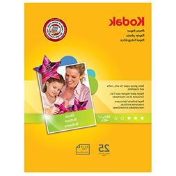 Kodak Photo Paper, 6.5 mil, Glossy, 8-1/2 x 11, 25 Sheets/Pa