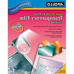 Apollo Quick-Dry Color Inkjet Transparency Film, Letter, Cle