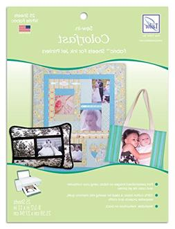 June Tailor Sew-In Colorfast Fabric Sheets for Inkjet Printe