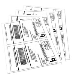 Quality Star Shipping Labels for Laser/Inkjet Printer, 8.5""